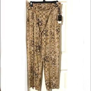 Takara Tie Belted Straight Leg Pants Size Large